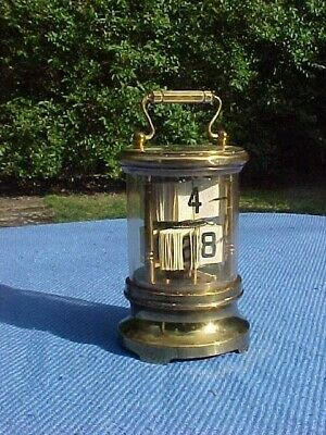 Vintage Brass French Mechanical Digital Flip Carriage Clock