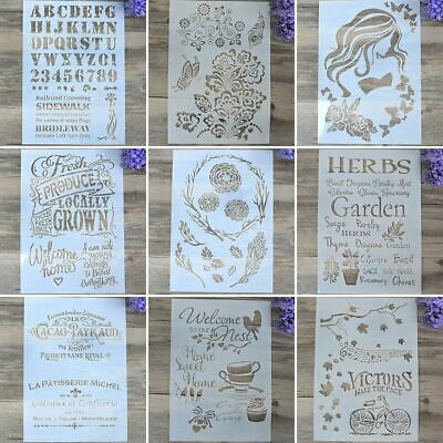 Paper Card Layering Stencils Scrapbooking Wall Painting Embossing Template