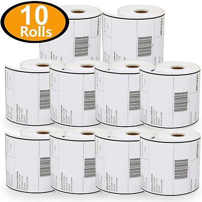 """10 Rolls Dymo 1744907 Compatible 4XL Internet Postage Extra-Large 4"""" x 6"""""""