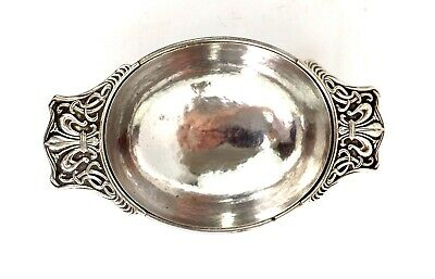 Omar Ramsden Sterling Silver Quaich Bowl Arts & Crafts Hand Hammered London 1927