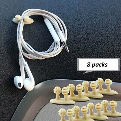 8pcs Cable Clips Adhesive Cord Management Wire Holder Organizer Clamp for LU