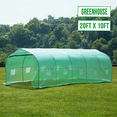 20'X10'X7' Walk in Greenhouse Steeple Green House Canopy Outdoor Plant Gardening