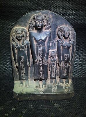 Egyptian Antiques Antiquities Family Group Sculpture Stela Relief 1851-1801 Bc