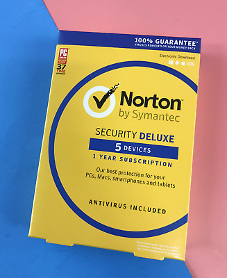 Norton by Symantec Security Deluxe - 5 Devices - 1 Year Subscription #0912