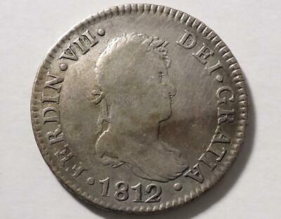 1812 Spain 2 Reales, Colonial Era, See Pics