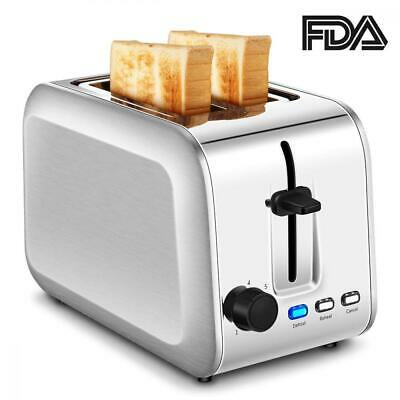2-Slice Toaster, Stainless Steel Toasters with 7 Bread Shade Settings...