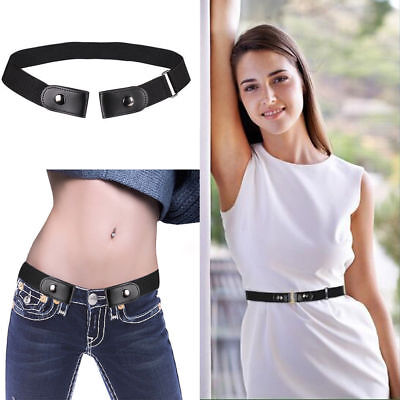 No Buckle Stretch Belt For Women/Men Comfortable Elastic Waist Belt for Jeans US