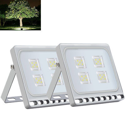 2X 20W LED Floodlight SMD Outdoor Garden Landscape Security Lamp Cool White IP65