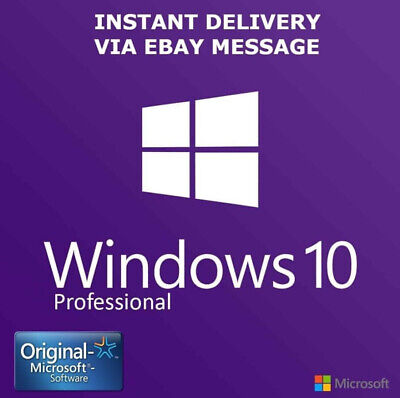 Instant Windows 10 Professional Pro 32|64 Bit Genuine Activation Key License Esd