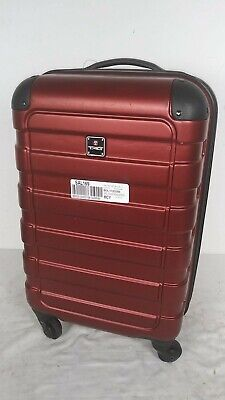 $200 Tag Matrix 20'' Hardside Spinner Carry-On Travel Suitcase Luggage Red