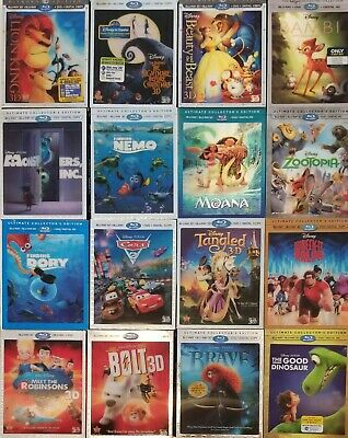 Disney Blu Ray 3D Lenticular Slipcovers Only | 17 Titles to Choose from | OOP
