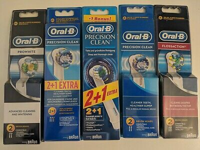 Braun Oral B Toothbrush Heads Pro White Precision Clean Floss Action Oral
