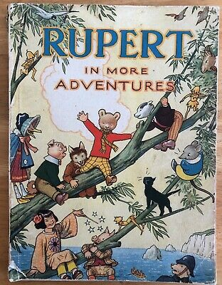 """RUPERT ANNUAL RUPERT BEAR 1944 Inscribed NOT Price clipped Lacks 5"""" Spine Cover"""
