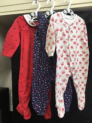 Girl 6-9 Months Sleepsuit Playsuit Bundle Wite Red Blue Mothercare And Others
