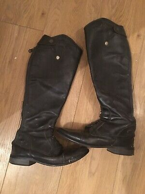 Mark Todd black leather riding boots Size 6