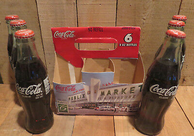 2003 Coca-Cola Coke Bottles Set of 6 Unopened 2005 Publix 75 years