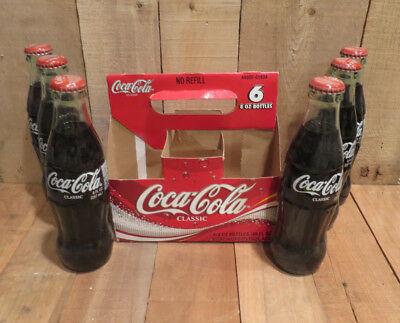 2003 Coca-Cola Coke Bottles Set of 6 Unopened Indianapolis 500 90th Running