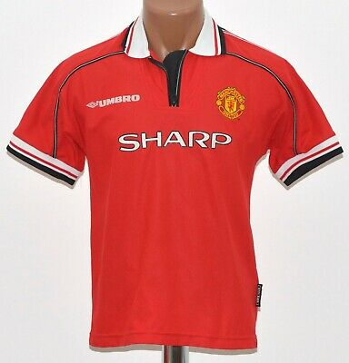 Manchester United 1998/1999/2000 Home Football Shirt Jersey Umbro Size Yl Boys