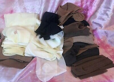 LOT Vtg Stockings 17 Pairs Unpackaged Various Sizes And Makes