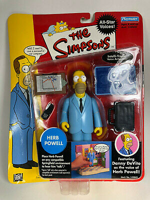 "The Simpsons Playmates Series 1 ""Herb Powell"" Figure New"