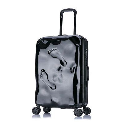 D971 Black Coded Lock Universal Wheel Travel Suitcase Luggage 24 Inches W