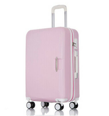 D847 Pink Universal Wheel ABS Coded Lock Travel Suitcase Luggage 20 Inches W