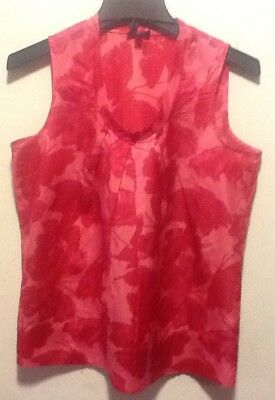 b1294067700f5 Pre-owned Talbots Red Sleeveless Blouse Top 10P w Gold Red Bug Buttons.   6.20 Buy It Now 23d 7h. See Details. Talbots Ladies Sleeveless Pink Blouse  Size 10P ...