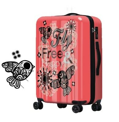 D283 Fashion Lock Universal Wheel ABS+PC Travel Suitcase Luggage 20 Inches W