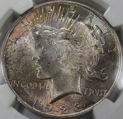 1923 Peace Silver Dollar Gem BU NGC MS-65... with Superb Toning, a Pretty Coin!!