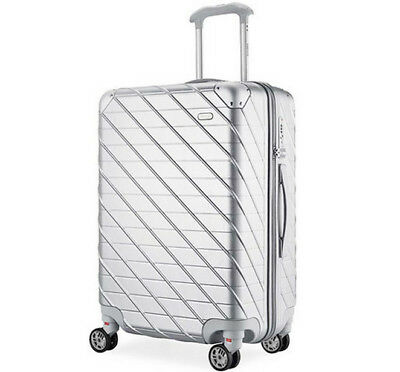 D940 Silver Lock Universal Wheel ABS+PC Travel Suitcase Luggage 22 Inches W