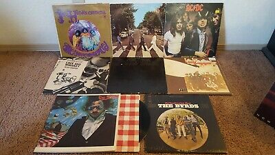 HUGE LOT OF 50 ROCK GREATS RECORD ALBUM LPS Jimi Hendrix Ac Dc and MORE