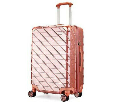 D924 Rose Gold Lock Universal Wheel ABS+PC Travel Suitcase Luggage 22 Inches W