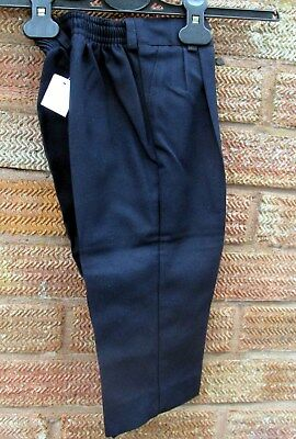 BOYS SMART NAVY BLUE TROUSERS   2 years  BRAND NEW