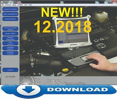 TOYOTA Techstream GDS  V13.30.01 (12/2018) NEW FULL SOFTWARE for mini VCI