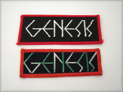 GENESIS Vintage Patch. Tony Banks, Mike Rutherford, Phil Collins. Rock Aufnäher