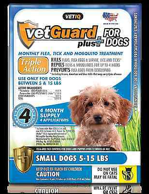 VetGuard Plus Flea & Tick 4 month supply for Small Dogs 5-15 lbs.
