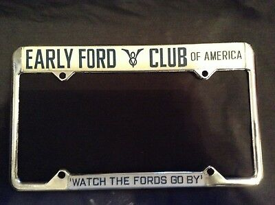 EARLY FORD V8 CLUB of America LICENSE PLATE FRAME scta aaca nhra watch the fords