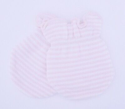Baby Mittens - Interlock - Stripes - Fit Newborn - Approx. 3 Months