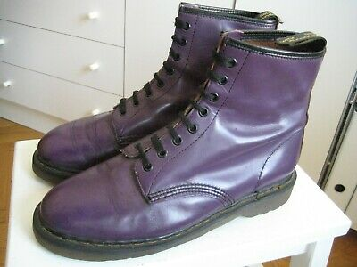 987c3415824 Vintage Dr Martens 8 Eye Air Wair Boots 44 UK 10 purple 1460 Made in England