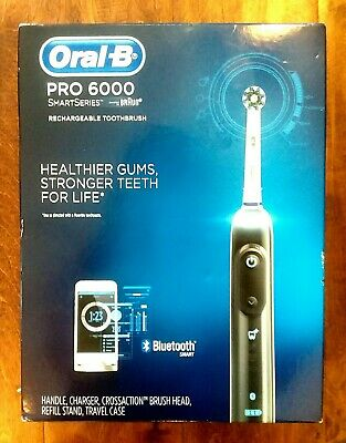 NEW SEALED Oral-B SmartSeries Pro 6000 BLACK Rechargeable Toothbrush Bluetooth