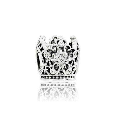 Authentic Pandora Bead Sterling Silver Disney Princess Crown Charm 791580Cz