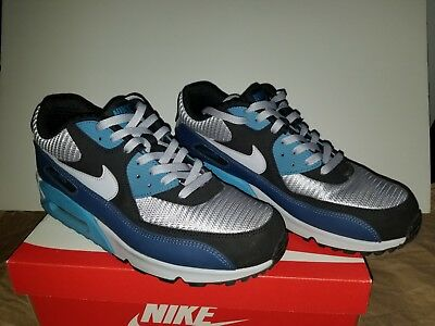 new styles 3d642 a48d7 NIKE Air Max 90 essential LIGHT BLUE NAVY GREY size 13