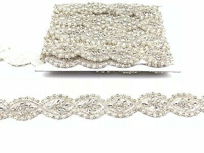 Diamante Bridal Trim  Belt Wedding Dress Sash Diamante Trim Applique For Bridal