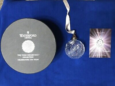 "Waterford Times Square "" Let There Be Love"" Crystal Ball Tree Ornament 2011"