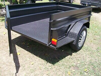 Sydney Built H/S 7x4 H/D Camper Style Trailer With Leds Jockey & Spare Tyre Etc