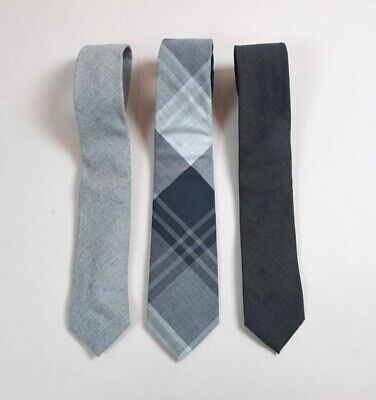 Lot Of 3 J.crew Grey Wool Neck Ties