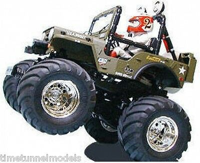 Tamiya 58242 Wild Willy Jeep Kit RC Kit - DEAL BUNDLE with Twin Stick Radio