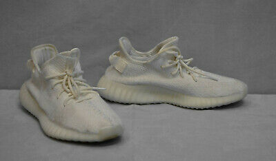 17a1afed26ef8 C0 Auth ADIDAS YEEZY Boost 350 v2 Cream White Sneakers Shoes CP9366 Sz 9.5   220
