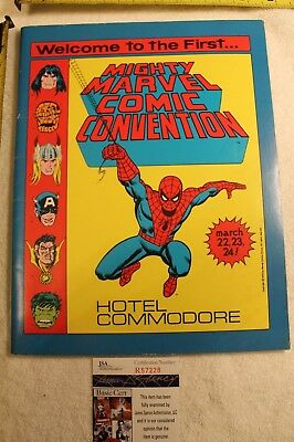 Spider-man comic Style -JSA-  authentic signed Stan Lee convention program book