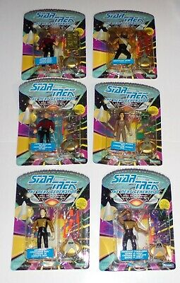 Star Trek The Next Generation Action Figures Lot of 6 Canada Cards